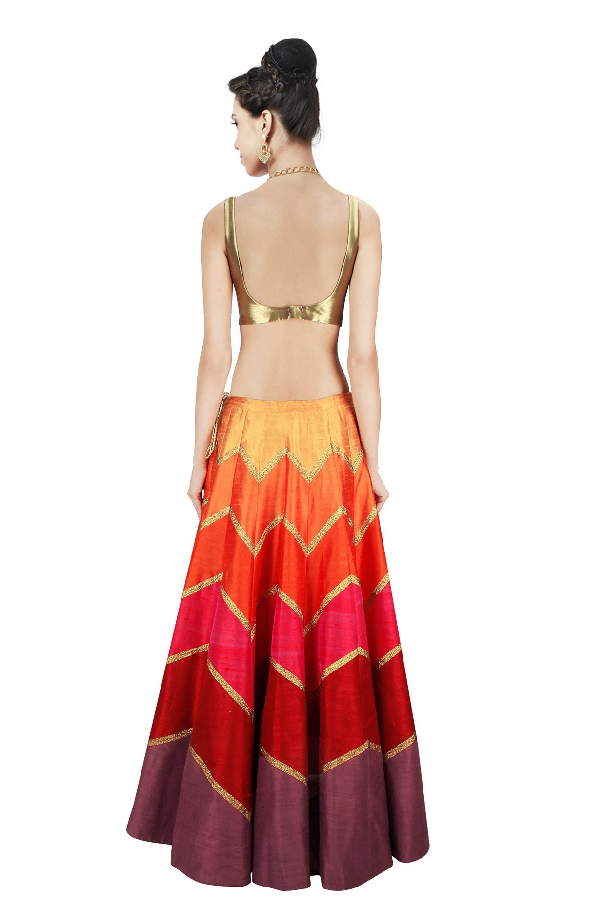Multicolored Banglori Silk Lehenga Choli