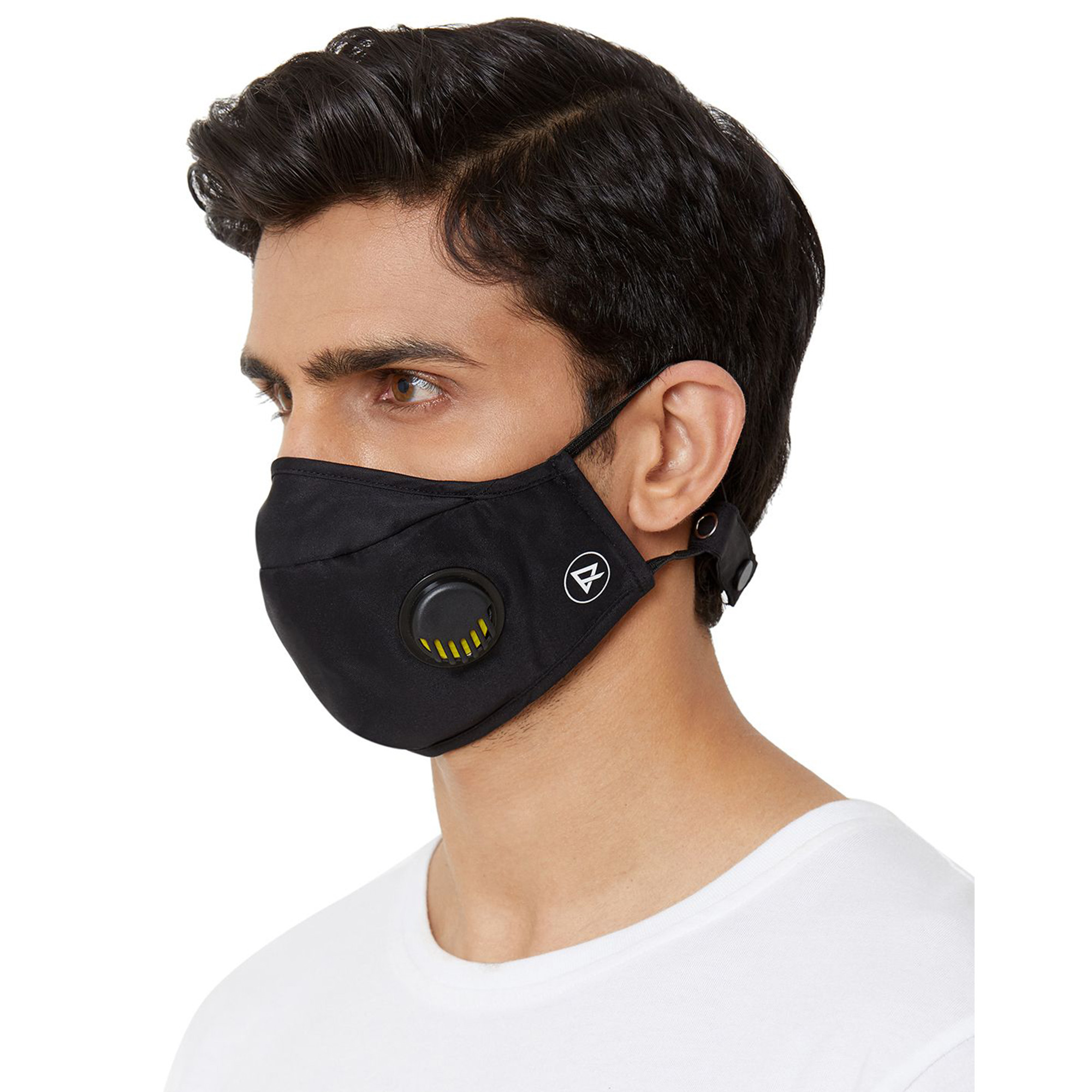 Zero Risque - In-built Antivirus and Antibacterial Treated Face Mask with Respiratory Valve, Headband Adjuster (Pack of 2)