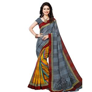 Multi Color Half & Half Saree