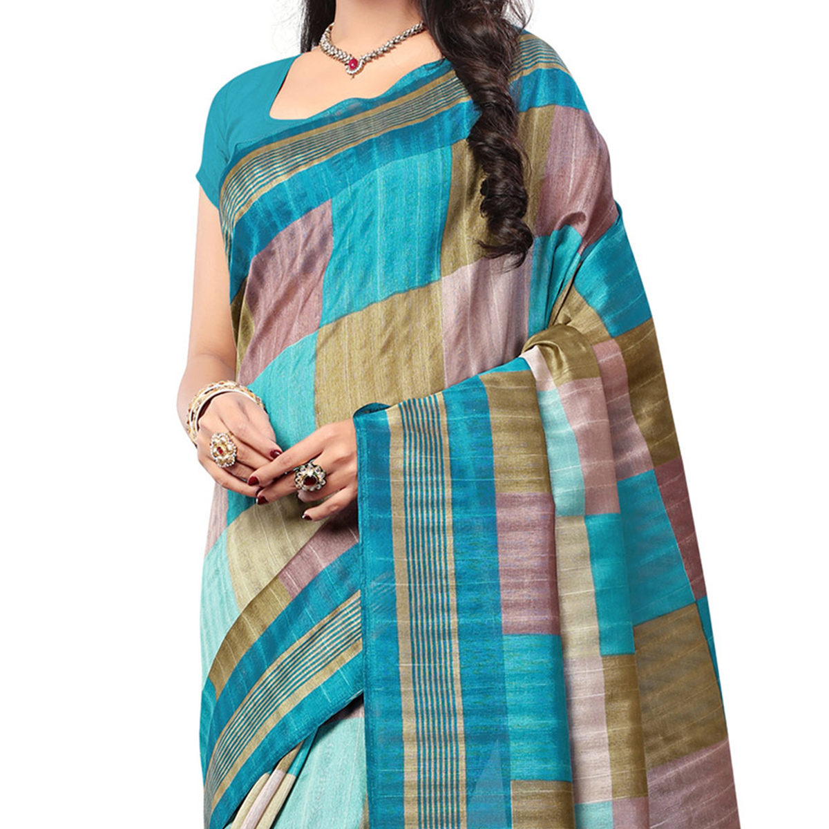 Multi Color Casual Wear Printed Saree
