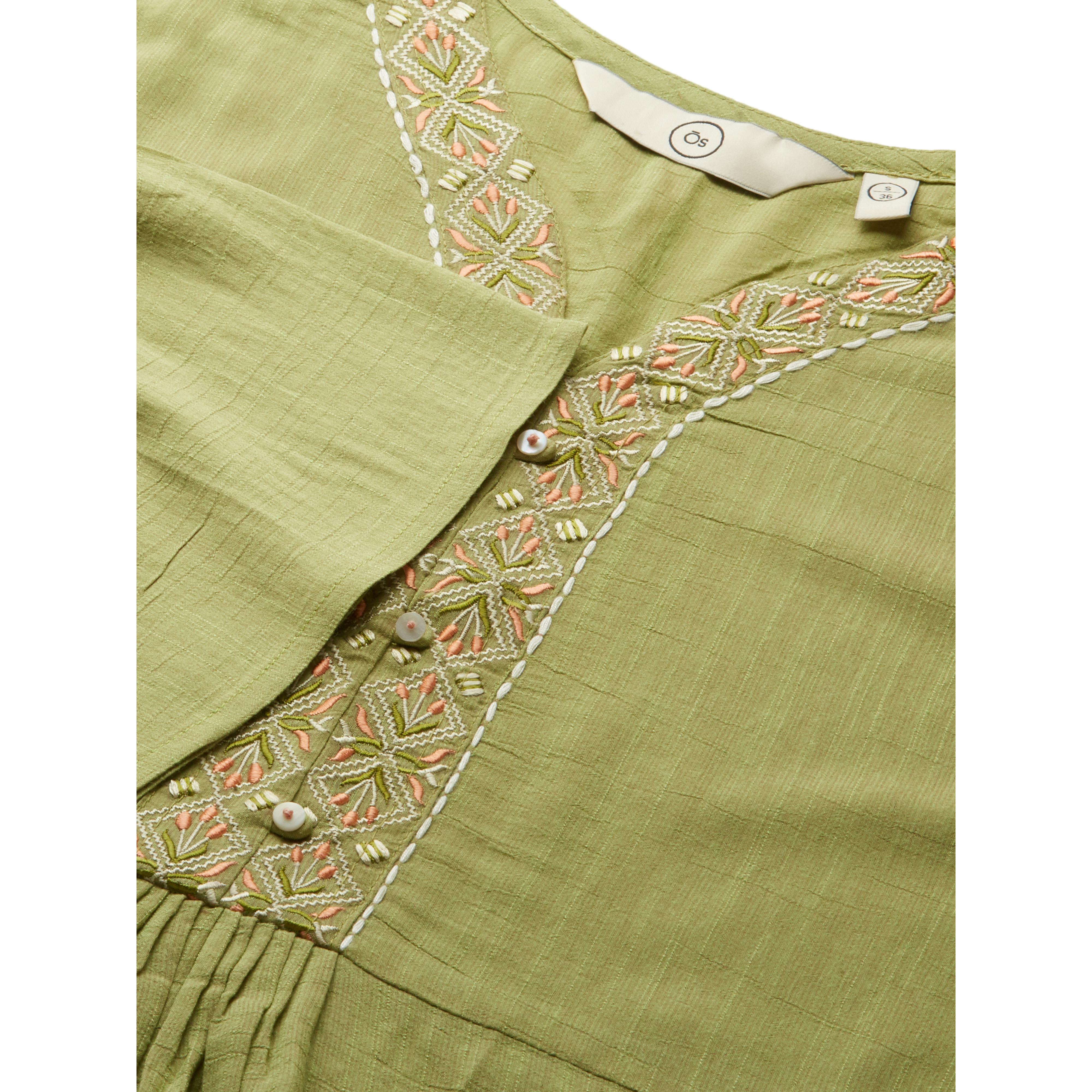 Jazzy Pista Colored Casual Wear Embroidered Viscose Blend Kurti
