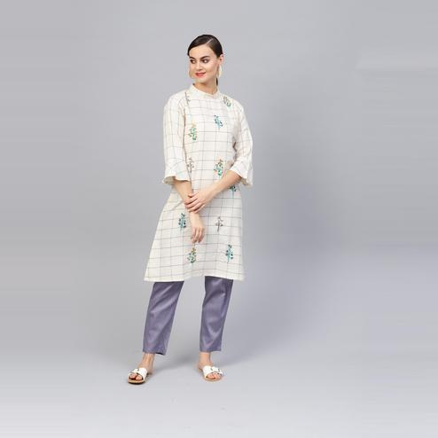 Indo Era - Embroidered A-Line Kurtas