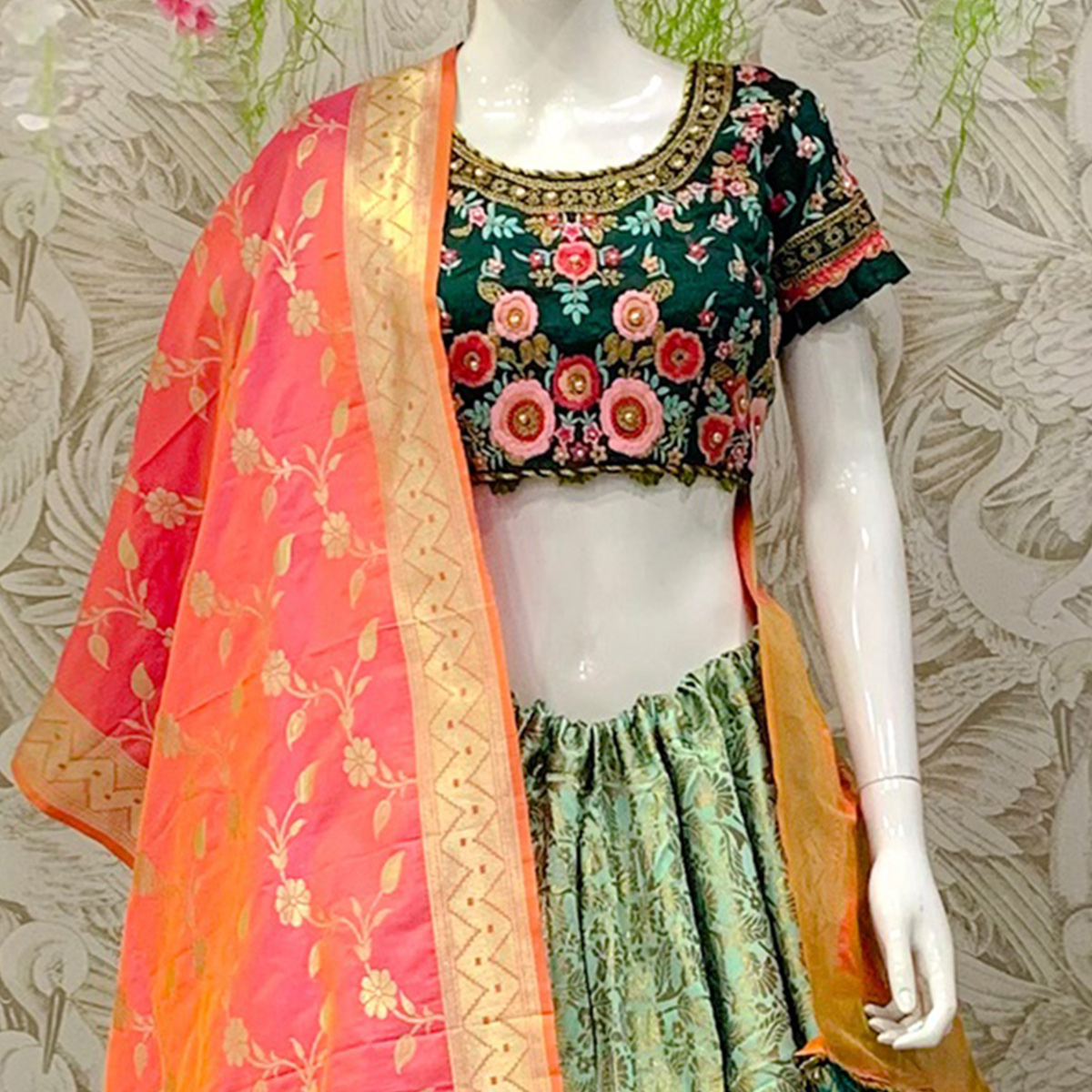 Exceptional Sky Blue Colored Designer Wedding Wear Woven Banarasi Silk Lehenga Choli