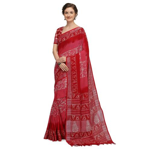 IRIS - Pink Colored Casual Cotton Saree
