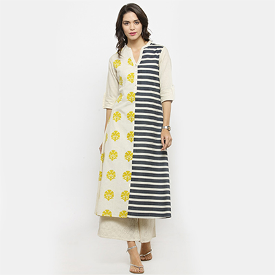 Multi Colored Printed Cotton Kurti