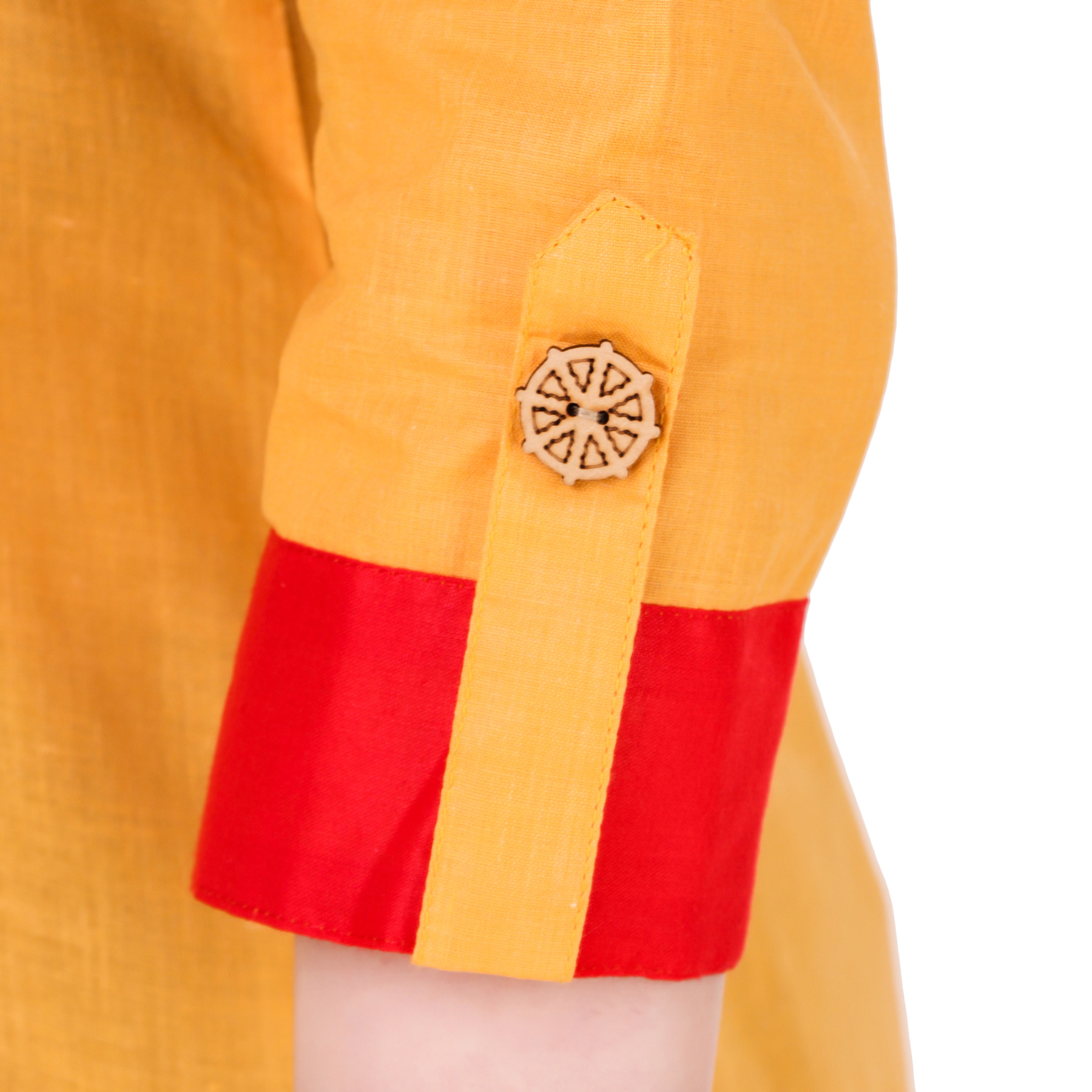 Dark Yellow Colored Casual Wear Cotton Kurti