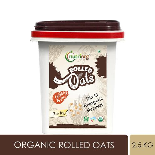Nutriorg - Certified Organic Rolled Oats 2.5kg