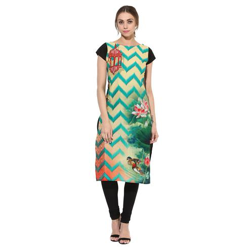 AHALYAA - Multi Colored Moroccon Lantern Cotton Printed Kurti