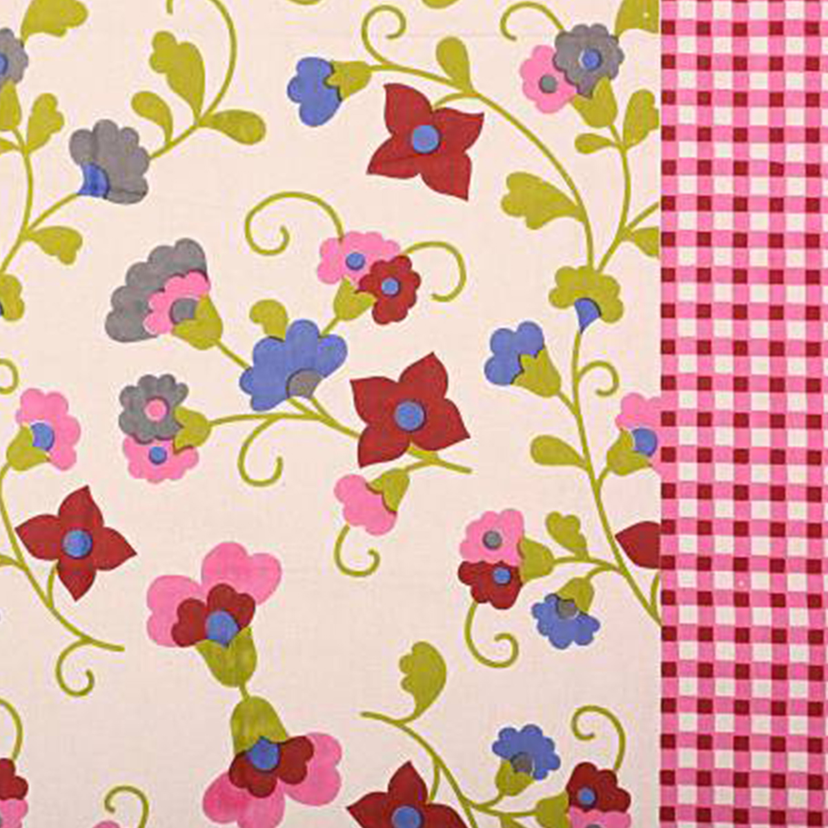 POOJA FASHION - Pink Colored Printed Single Cotton Bedsheet With 1 Pillow Cover