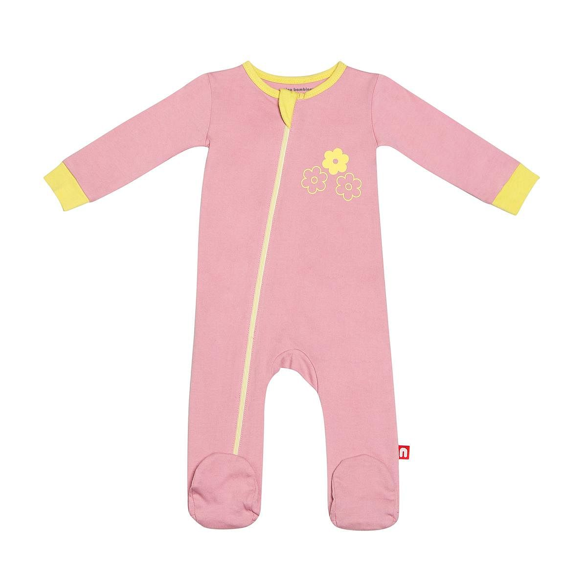 Nino Bambino - Pink Colored 100% Organic Cotton Romper For Infants