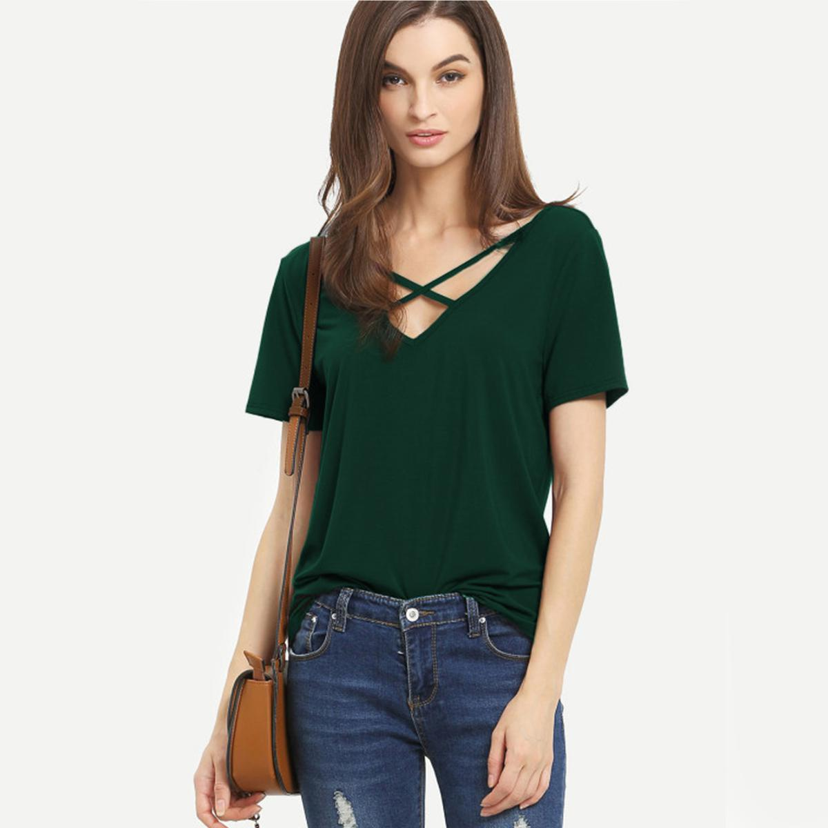 Stunning Green Colored Casual Wear Pure Crape Top