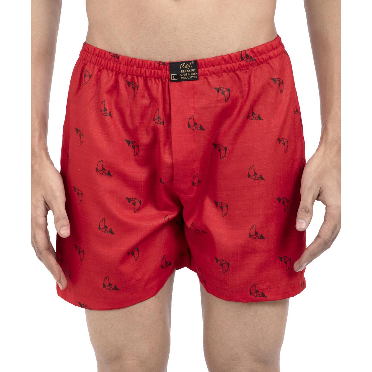A & M - Red Men Boxer Shorts   New Boxer Shorts For Men