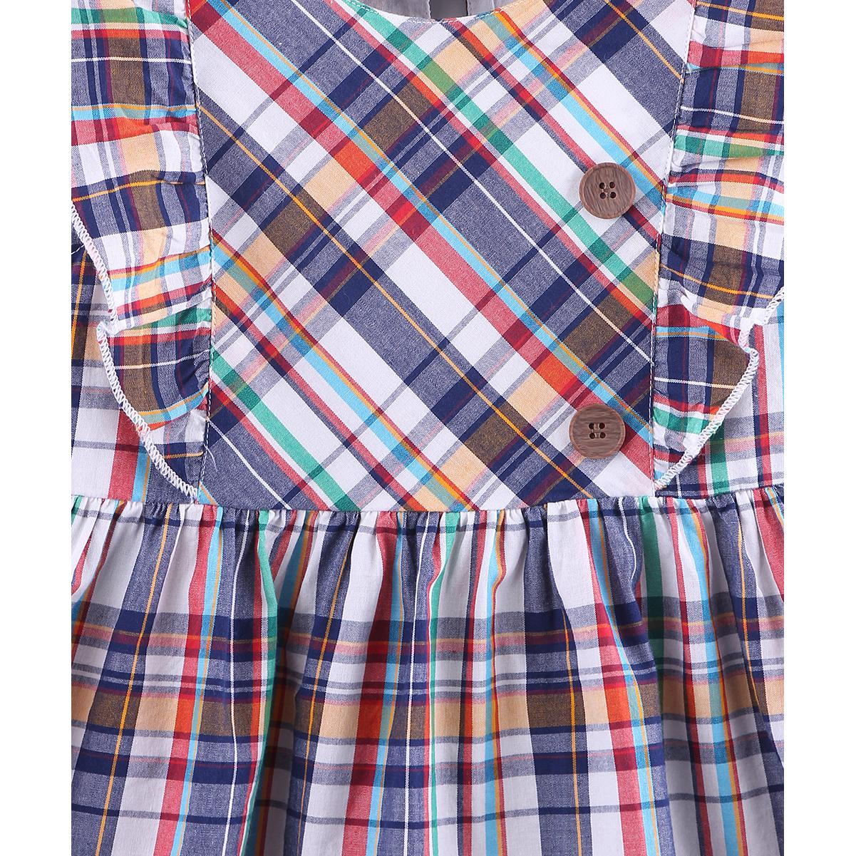 Beebay - Multior Colored Ruffled Y/D Check Cotton Dress For Girls