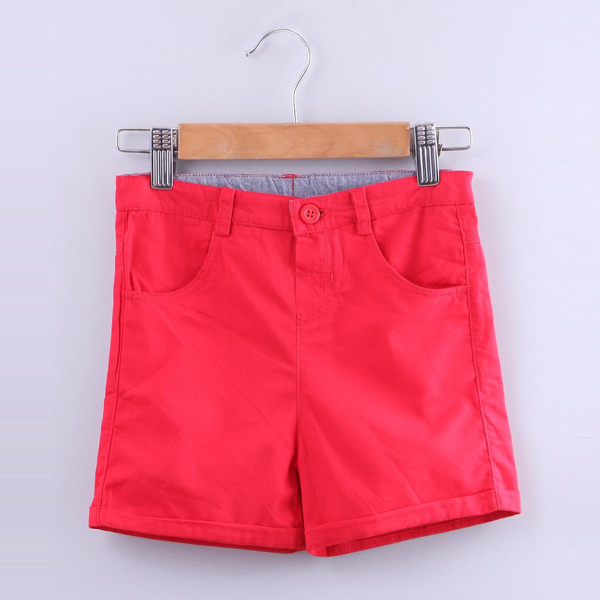 Beebay - Red Colored Tomato Chinos Cotton Shorts For Boys