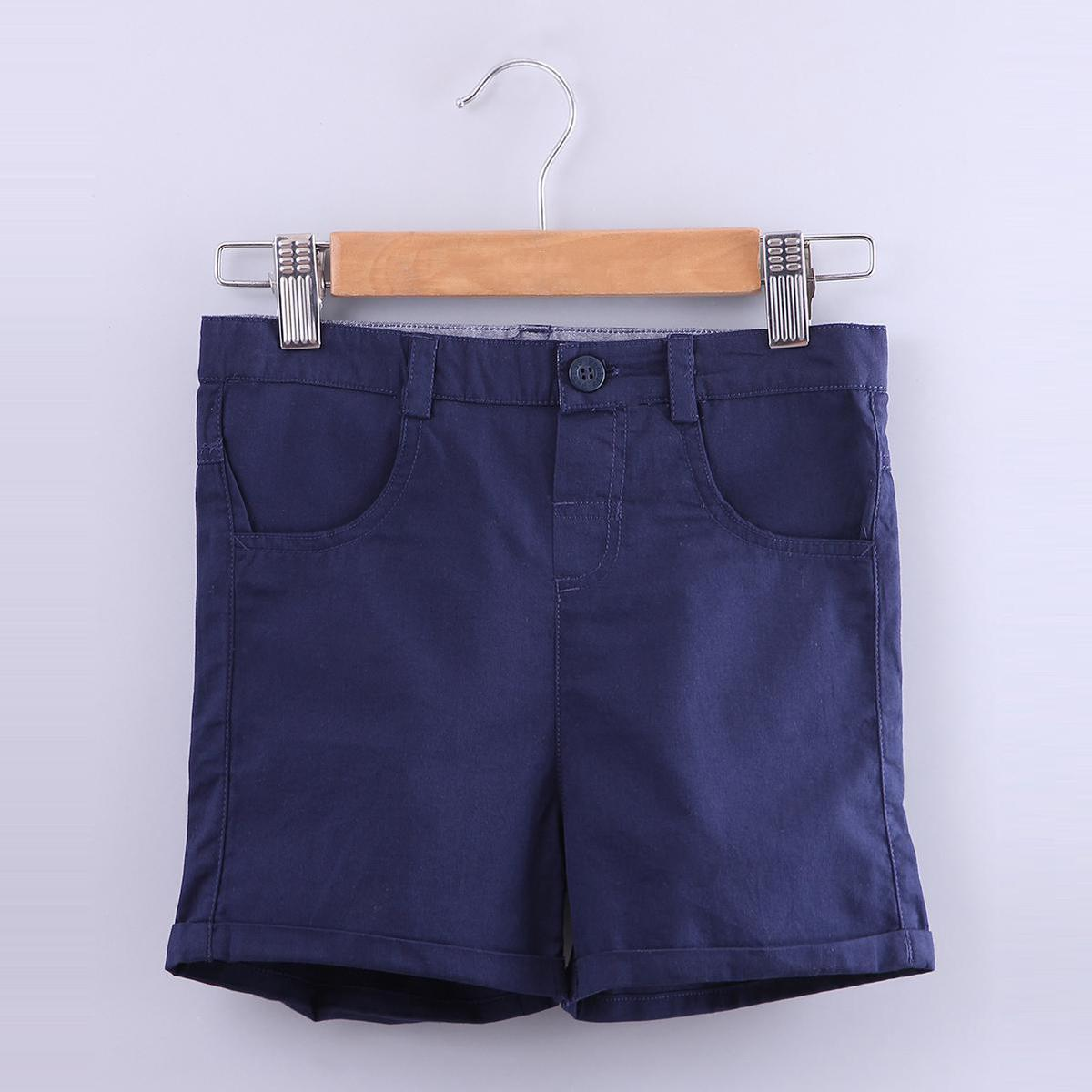 Beebay - Navy Colored Twilight Twill Chinos Cotton Shorts For Boys