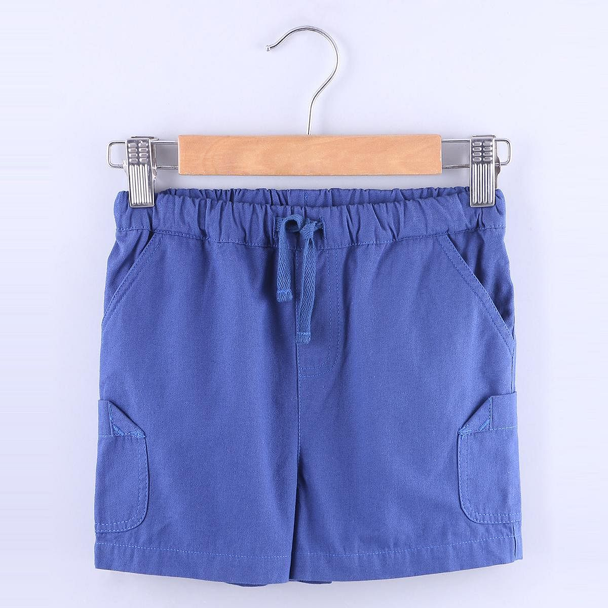 Beebay - Blue Colored Blue Pull Ups Cotton Shorts For Boys