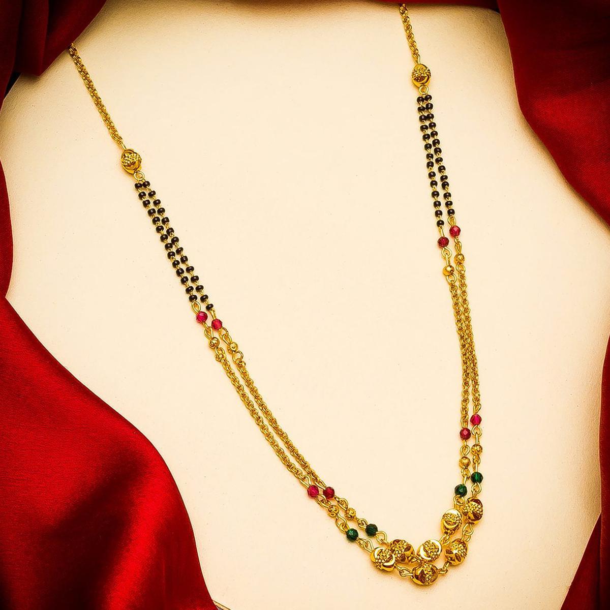 Vihaa Jewels - Copper Gold Plated Traditional Mangalsutra For Women