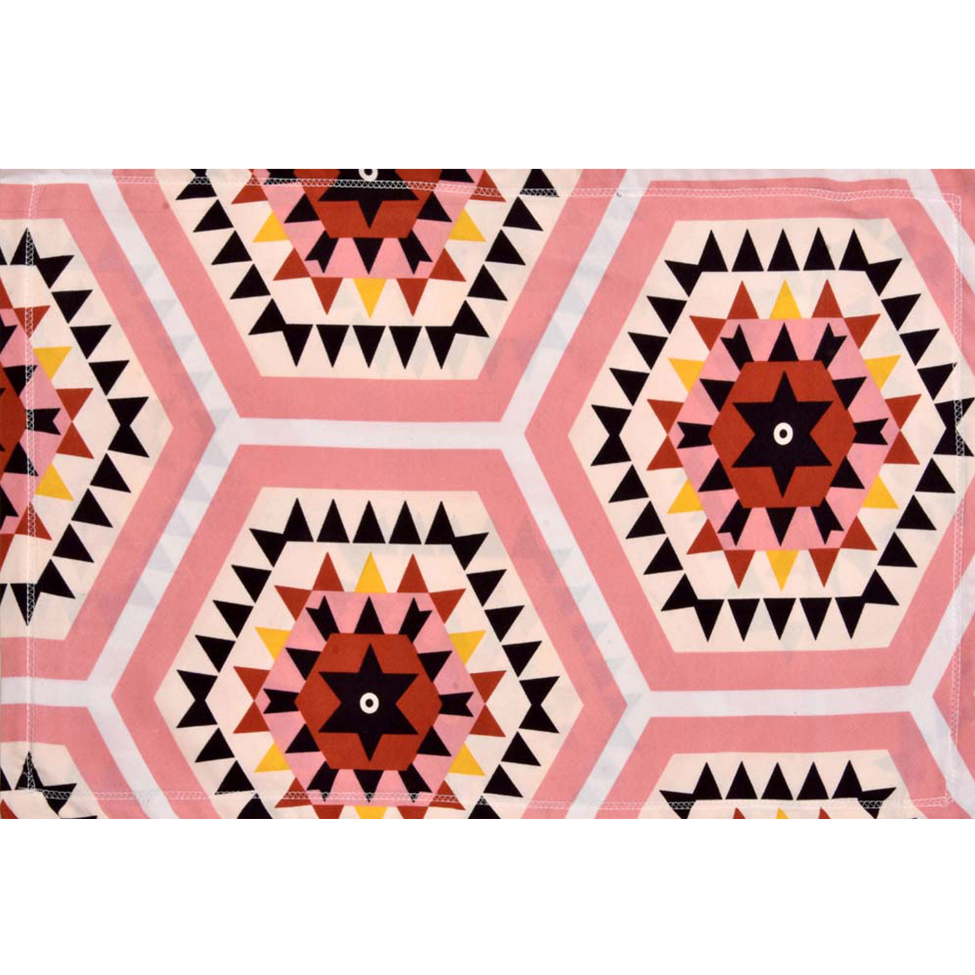 pink Rangoli Design Super-Soft Double Bedsheet With 2 Pillow Cover
