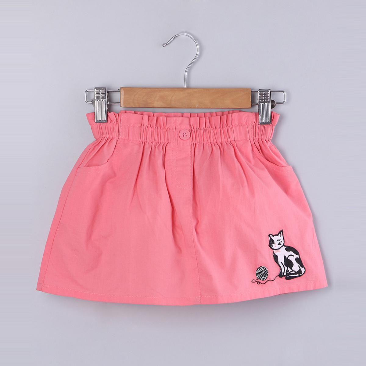 Beebay - Peperbag Applique Embroidered Skirt- Pink