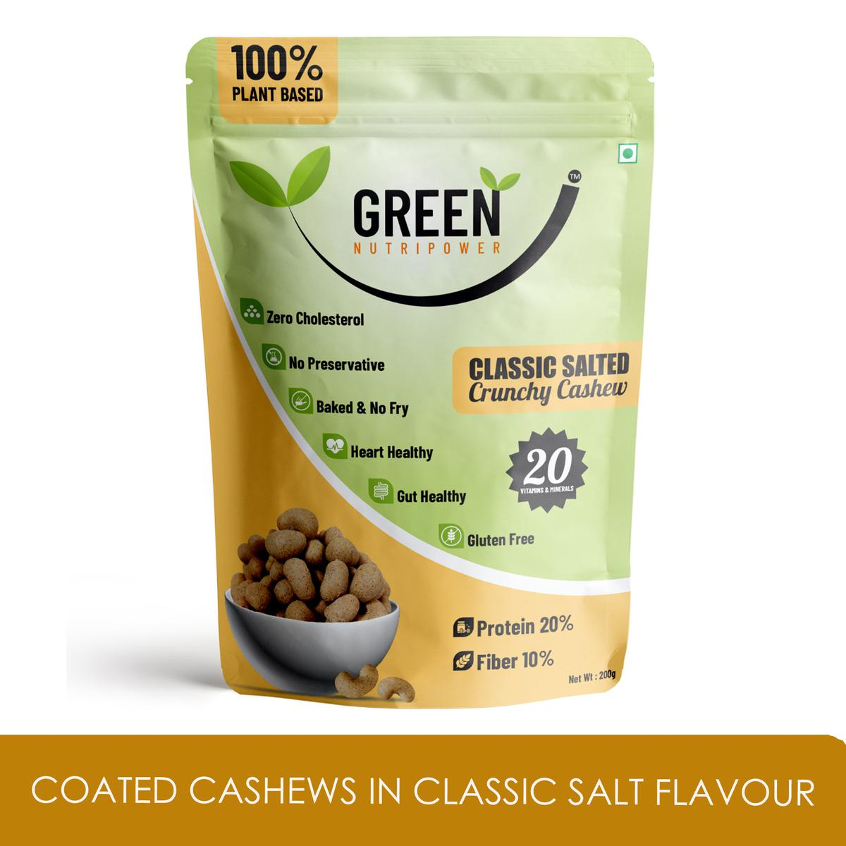 Green Nutripower - Coated Cashews in Classic Salt Flavour
