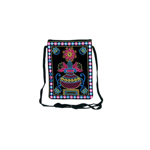 Lelys - Traditional Embroidery Velvet Mobile Pouch