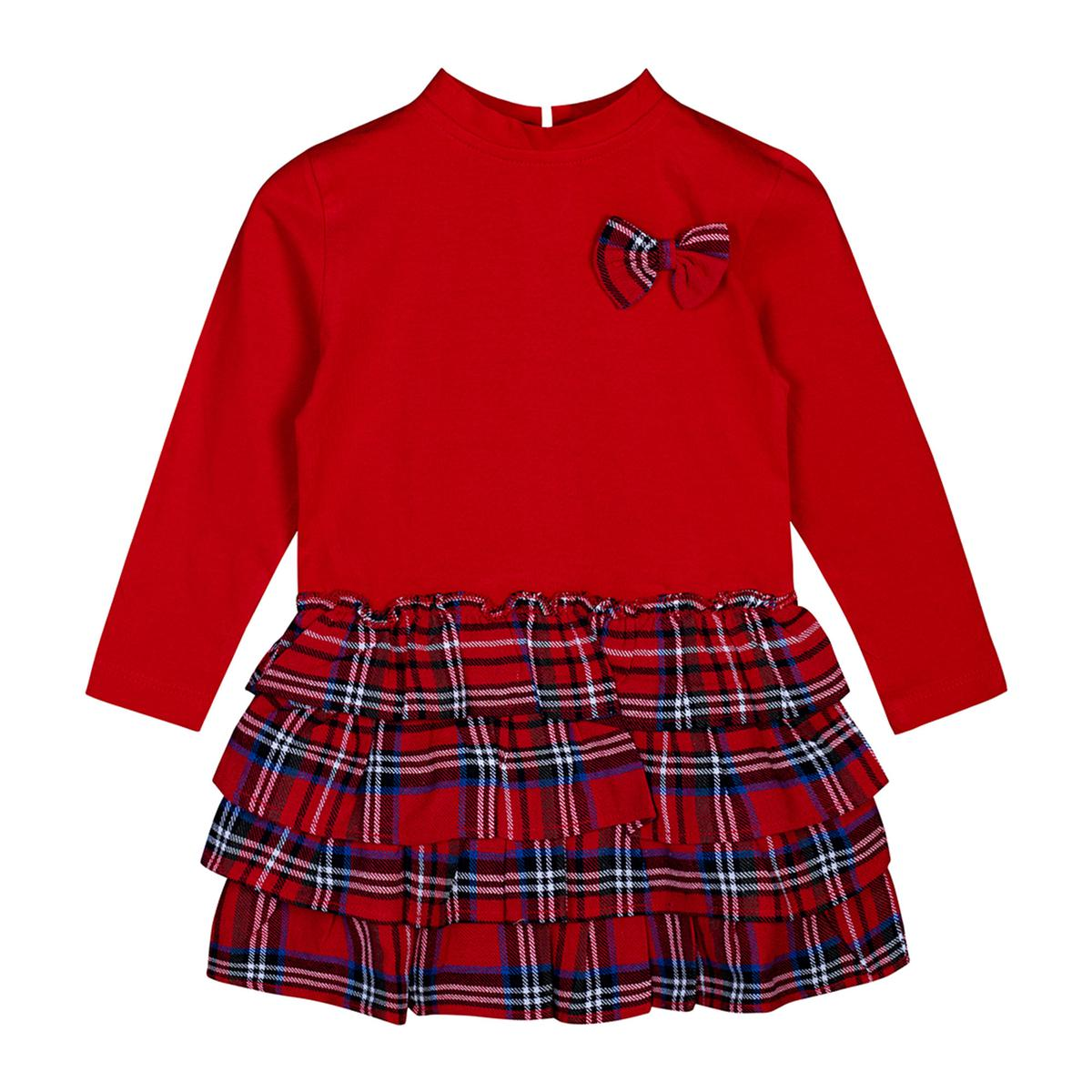 Sandbox - Red Colored Casual Cotton Frock