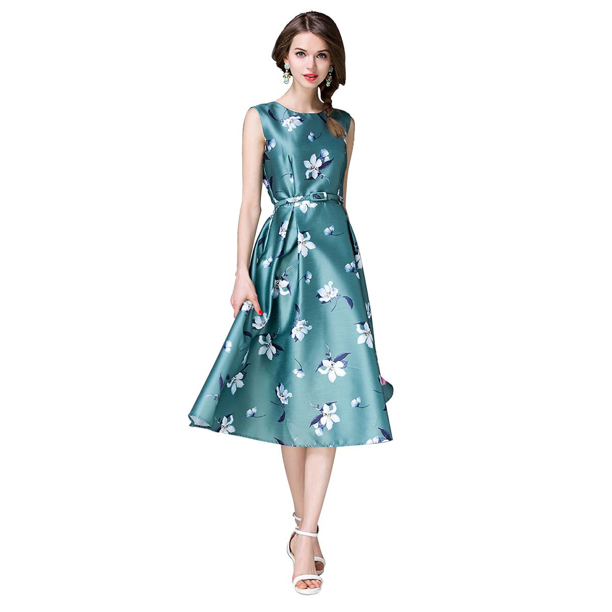 Buy Green Party Wear Printed Western Dress for womens online India ...