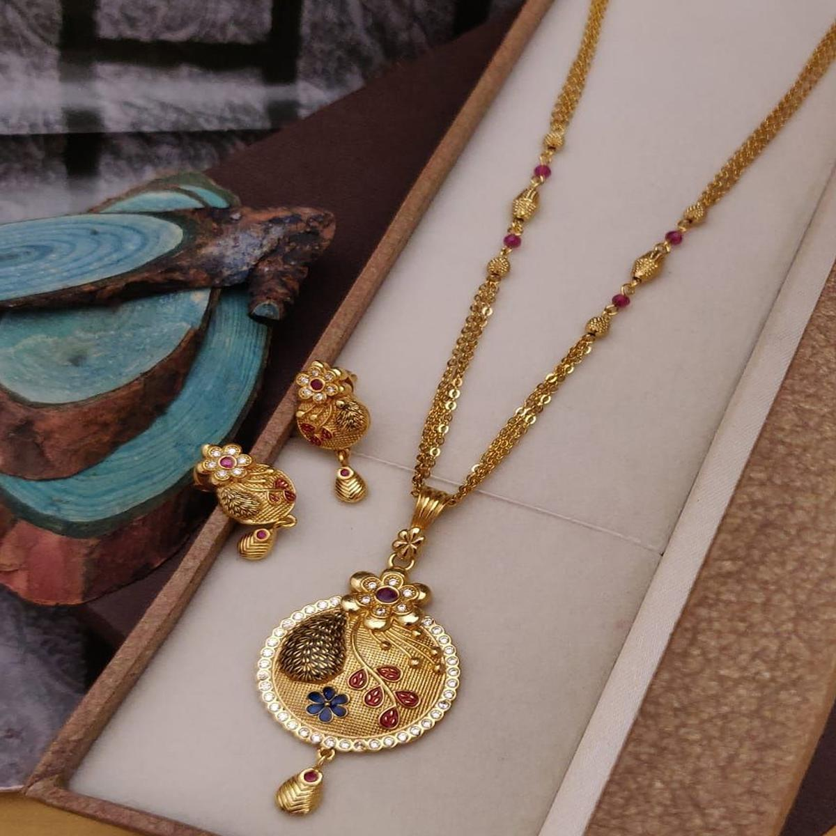 Vihaa Jewels - Copper Made High Gold Plated Jewellery Set For Women And Girl