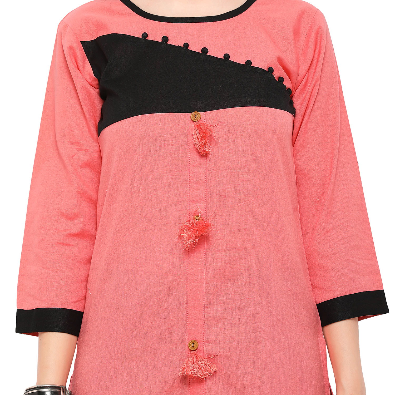 buy peach colored casual cotton kurti online india best prices