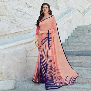 Ravishing Multi Colored Casual Printed Weightless Georgette Saree