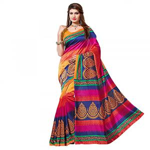 Multi Color Traditional Bhagalpuri Saree