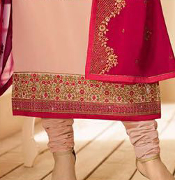 Gorgeous Light Pink Partywear Designer Embroidery Faux Georgette Salwar Suit