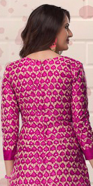 Pink-Beige Colored Casual Printed Pure Cotton Dress Material