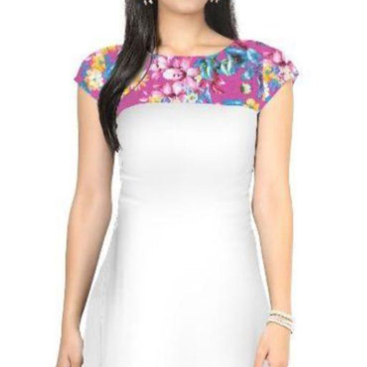 White Straight Cut Kurti
