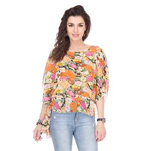 Multi Printed Chiffon Top