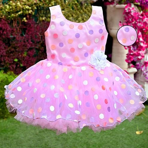 Titrit - Pink Polka Net Party Frock