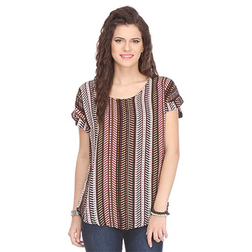 Multi Colored Printed Cotton Top