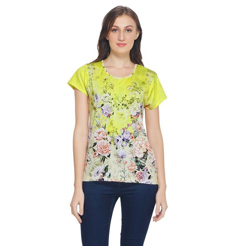 TSM - Yellow Colored Casual Polyester Top