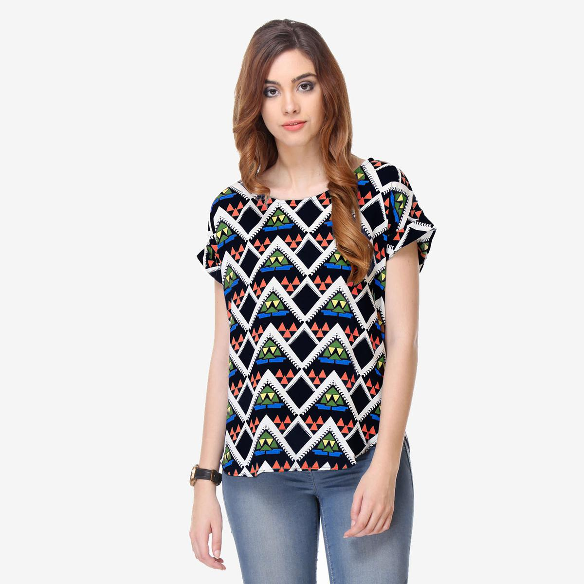 Multi Print Cotton Top
