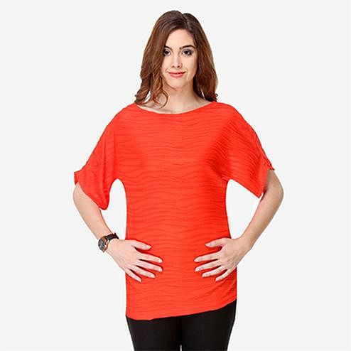 Orange Colored Cotton Top