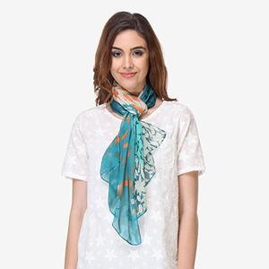White Colored Cotton Printed Top