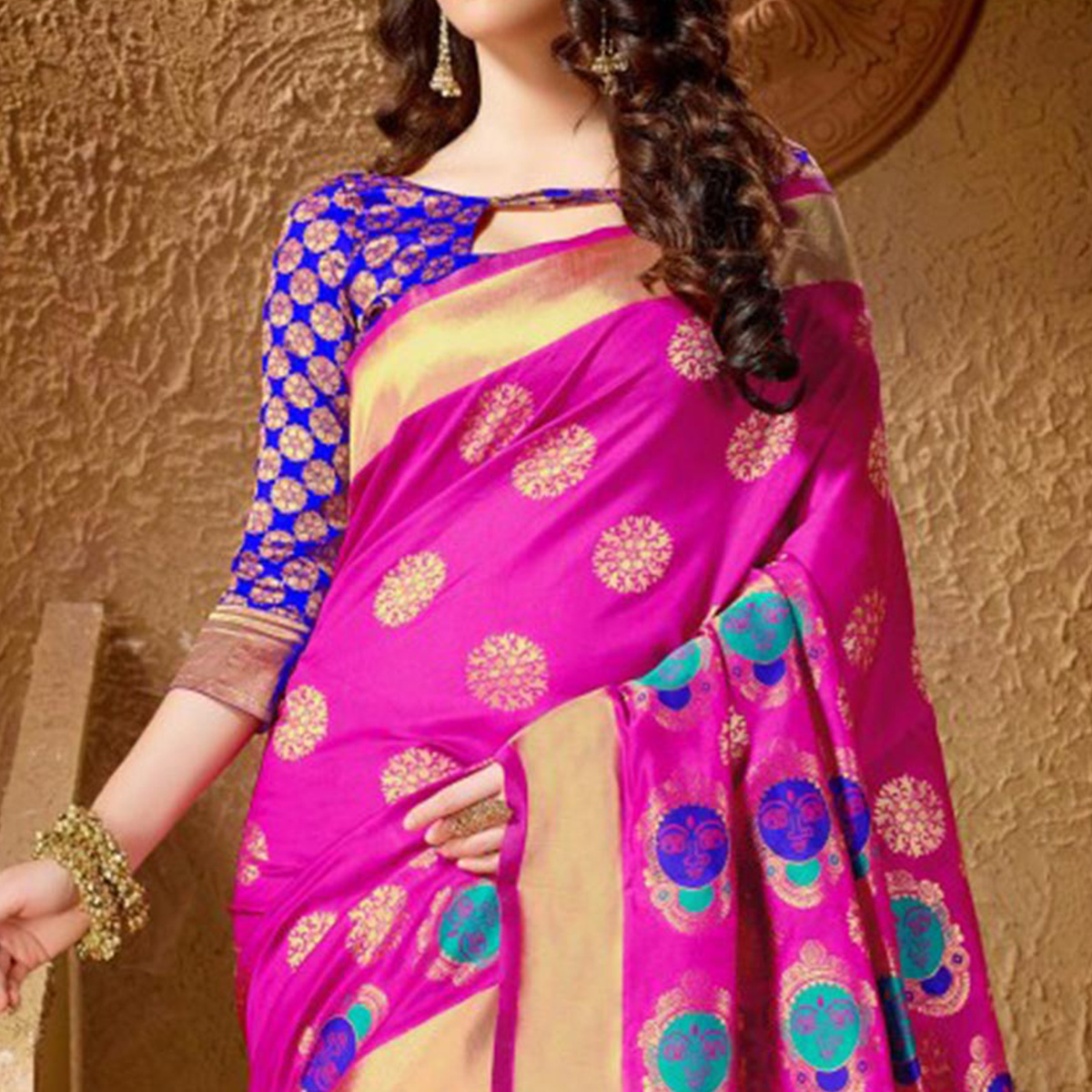 Attractive Pink Festive Wear Kanjeevaram Silk Saree