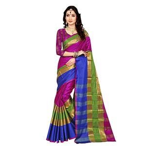 Charming Pink Colored Festive Wear Art Silk Saree