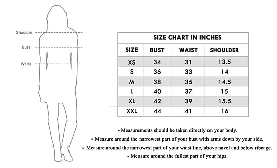 Size chart for - Impressive White Colored Partywear Printed Rayon Kurti
