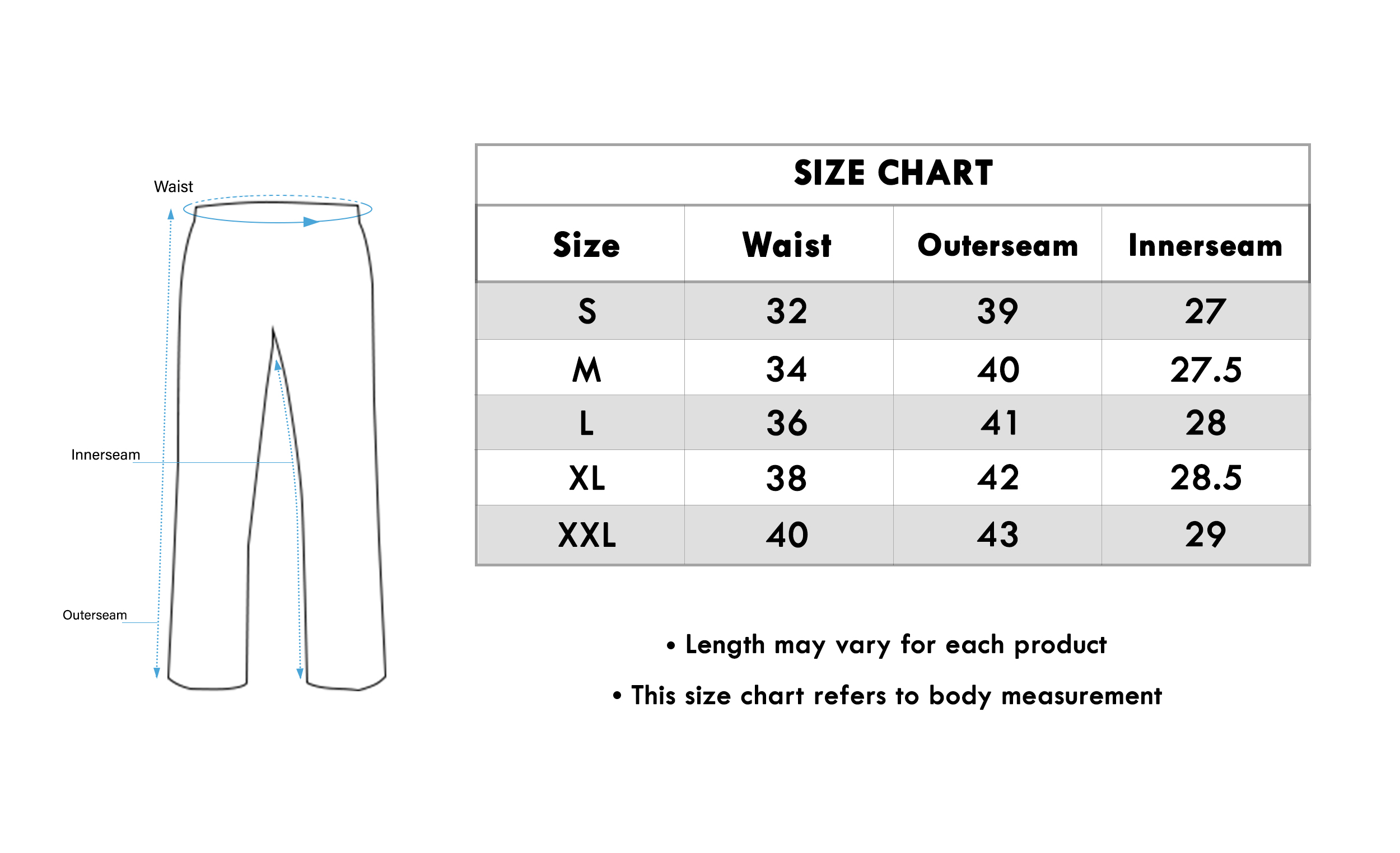 Size chart for - Lovely Black Colored Casual Wear Rayon Palazzo